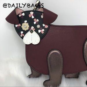 NEW KATE SPADE DOG CROSSBODY PUP FLOWER BAG